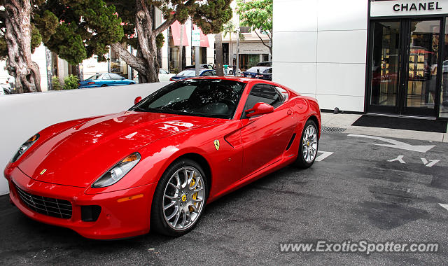 ferrari 599gtb spotted in beverly hills california on 06. Cars Review. Best American Auto & Cars Review