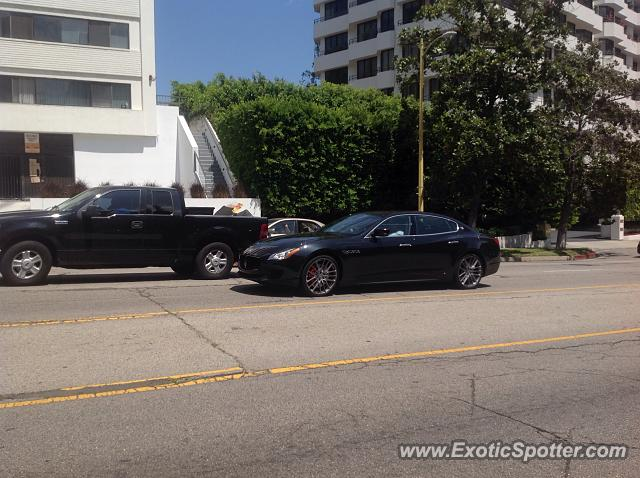Maserati Quattroporte spotted in Beverly Hills, California