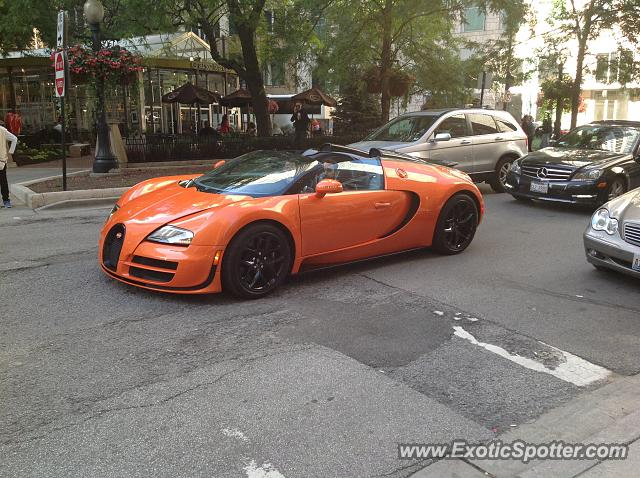 Bugatti Veyron spotted in Chicago, Illinois
