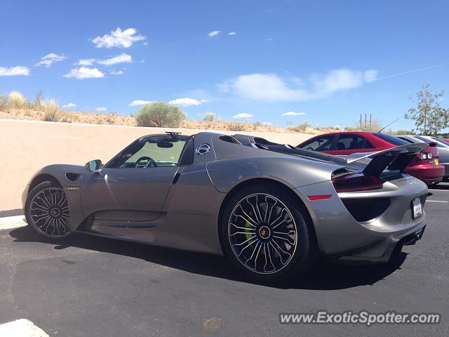 porsche 918 spyder spotted in santa fe new mexico on 08 31 2014 photo 2. Black Bedroom Furniture Sets. Home Design Ideas