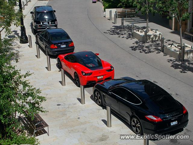 ferrari 458 italia spotted in salt lake city utah on 08 25 2014. Black Bedroom Furniture Sets. Home Design Ideas