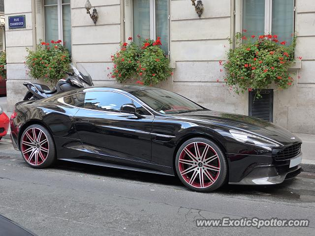 aston martin vanquish spotted in paris france on 10 12 2014. Black Bedroom Furniture Sets. Home Design Ideas