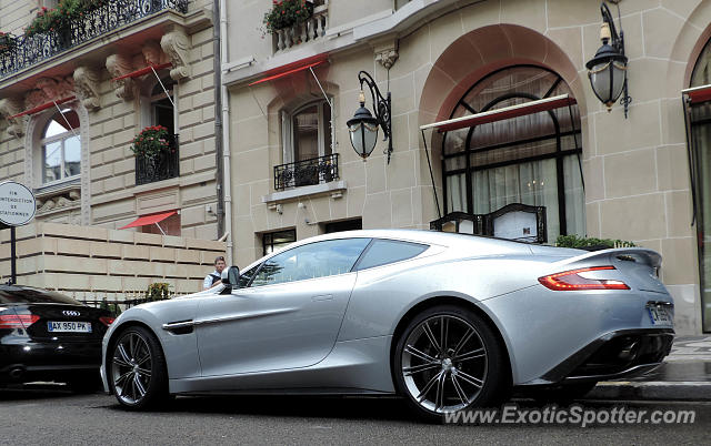aston martin vanquish spotted in paris france on 08 07 2014. Black Bedroom Furniture Sets. Home Design Ideas