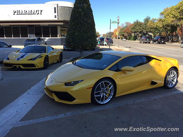 Lamborghini Huracan spotted in Dallas, Texas