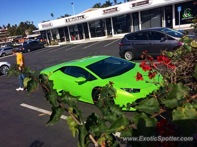 Lamborghini Huracan spotted in Newport beach, California