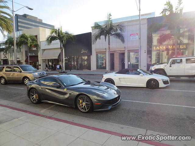 ferrari f12 spotted in beverly hills california on 02 16 2014 photo 2. Cars Review. Best American Auto & Cars Review