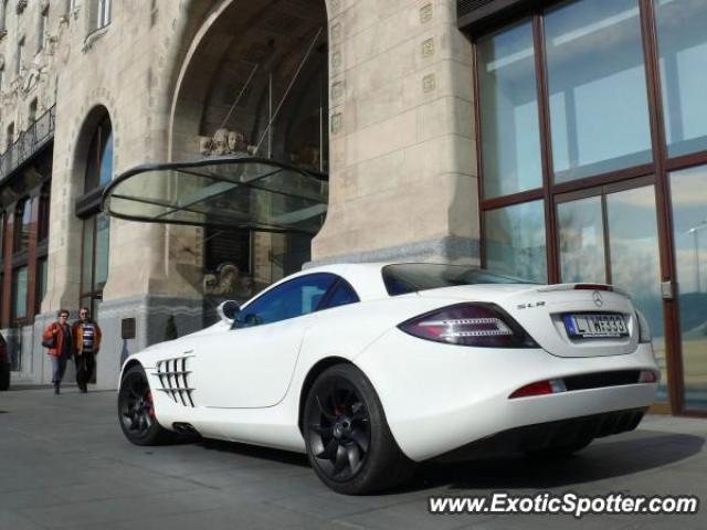 Mercedes SLR spotted in Budapest, Hungary
