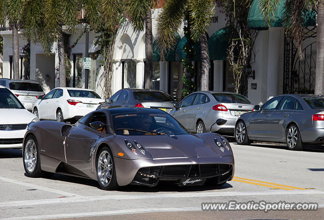 Pagani Huayra spotted in Palm Beach, Florida