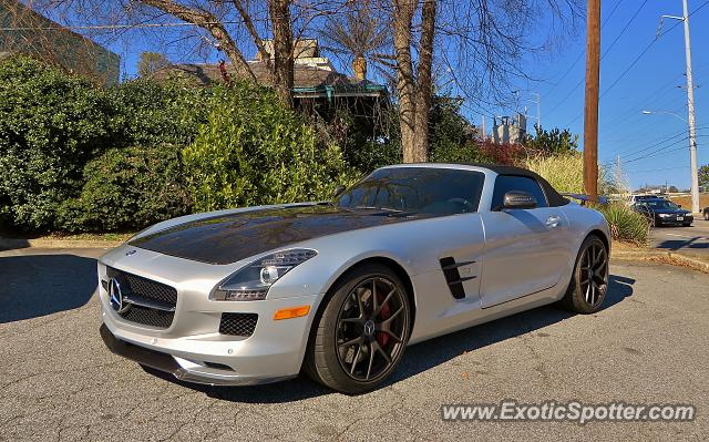 Mercedes sls amg spotted in atlanta georgia on 02 07 2015 for Mercedes benz roswell road