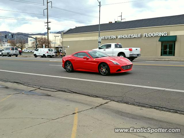 ferrari california spotted in salt lake city utah on 02 10 2015. Black Bedroom Furniture Sets. Home Design Ideas