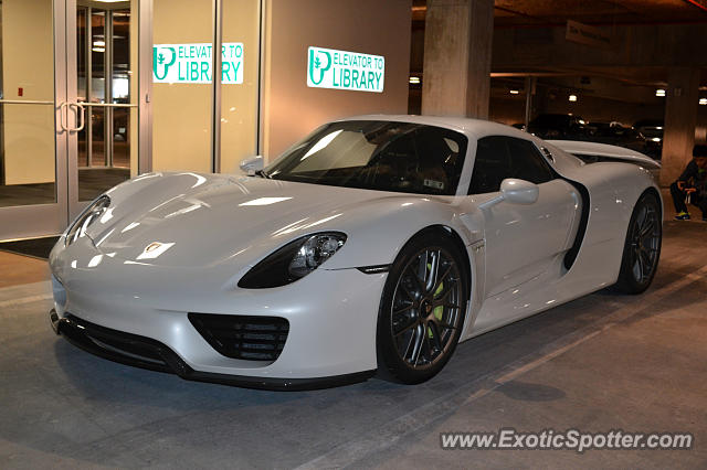 918 spyder white. porsche 918 spyder spotted in dallas texas white r