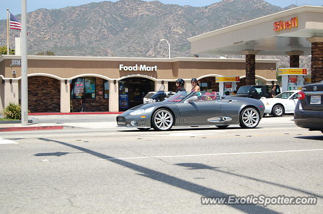 Spyker C8 spotted in Malibu, California