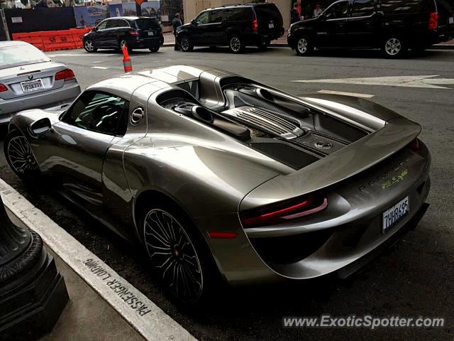 Porsche 918 Spyder spotted in San francisco, California