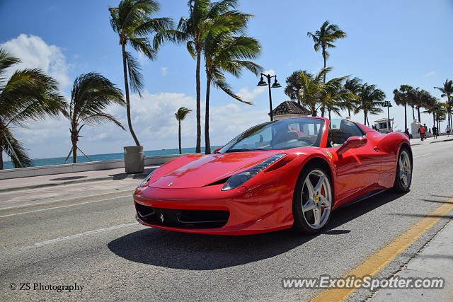 ferrari 458 italia spotted in fort lauderdale florida on 02 20 2015. Cars Review. Best American Auto & Cars Review