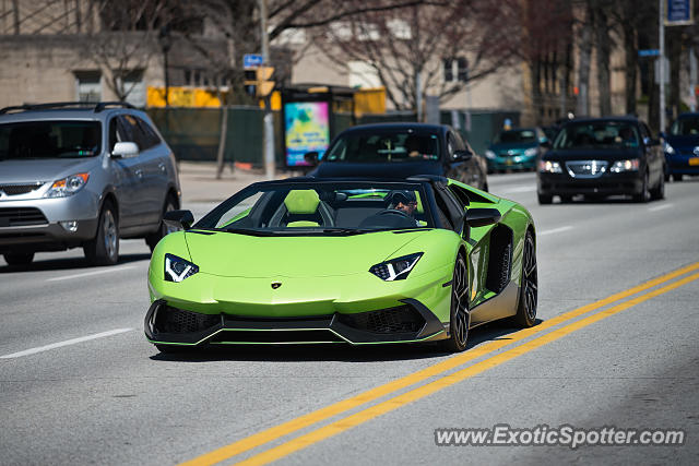 Lamborghini Aventador spotted in Pittsburgh, Pennsylvania