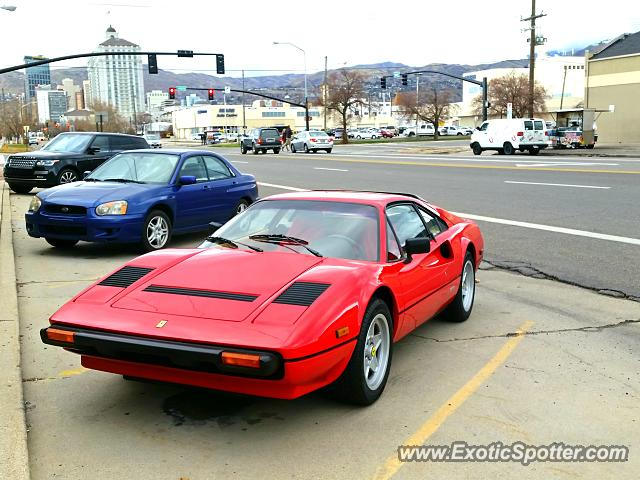ferrari 308 spotted in salt lake city utah on 01 30 2015. Black Bedroom Furniture Sets. Home Design Ideas