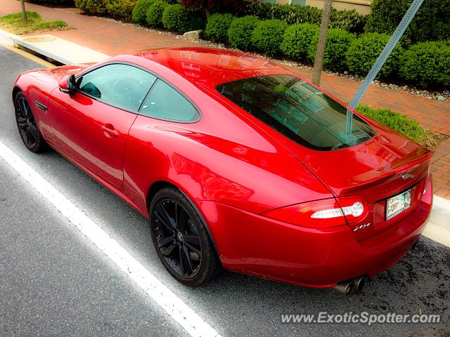 Jaguar XKR spotted in Potomac, Maryland
