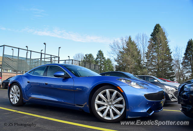 Fisker Karma spotted in Pittsford, New York