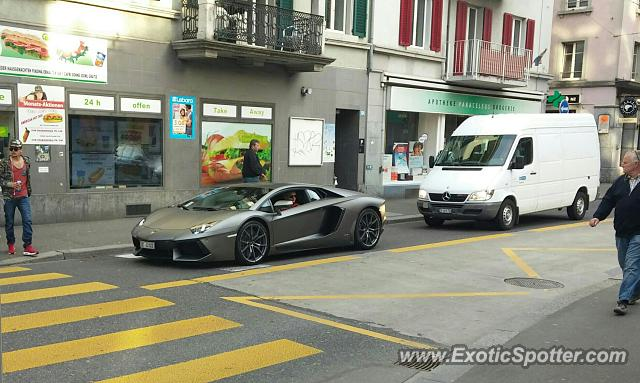 Lamborghini Aventador Spotted In Zurich Switzerland On 05