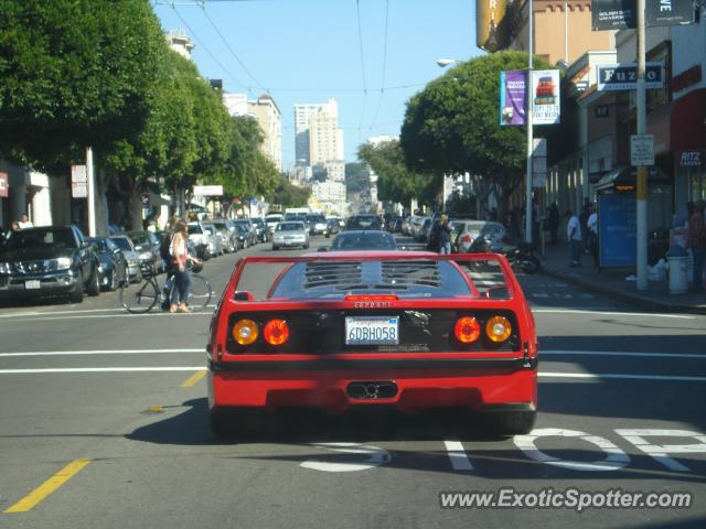 ferrari f40 spotted in san francisco, california on 10/14/2007