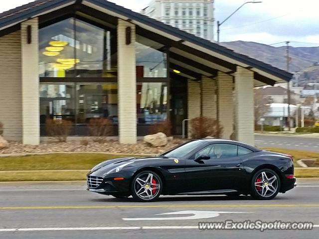 ferrari california spotted in salt lake city utah on 03 10 2015. Black Bedroom Furniture Sets. Home Design Ideas