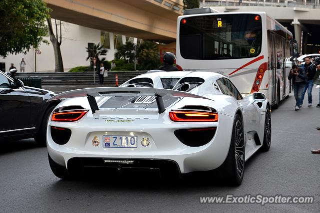 porsche 918 spyder spotted in monte carlo monaco on 04 18. Black Bedroom Furniture Sets. Home Design Ideas
