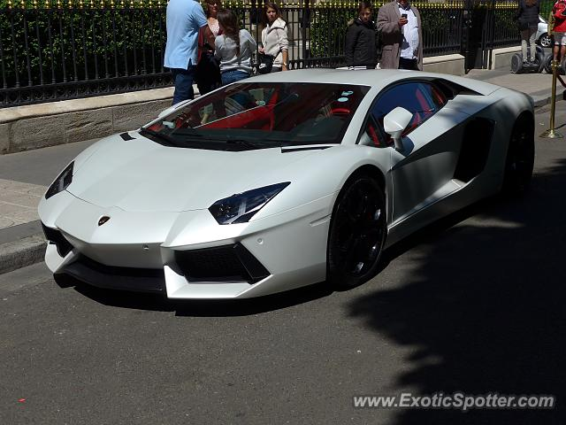 Lamborghini Aventador spotted in Paris, France