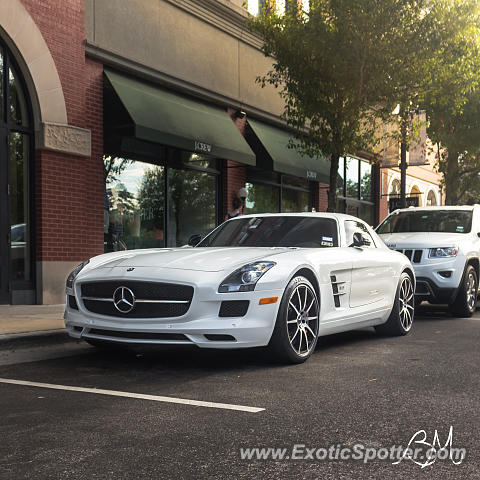 Mercedes sls amg spotted in the woodlands texas on 06 12 2015 for Mercedes benz woodlands