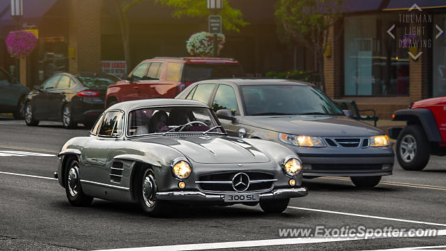 Mercedes 300sl spotted in birmingham michigan on 07 01 for Mercedes benz birmingham mi