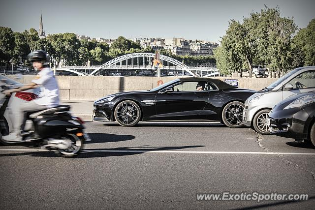 aston martin vanquish spotted in paris france on 06 30 2015. Black Bedroom Furniture Sets. Home Design Ideas