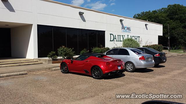 Alfa Romeo 4C spotted in Waxahachie, Texas
