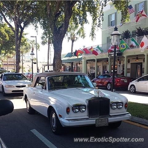 Rolls-Royce Corniche spotted in Fort Lauderdale, Florida