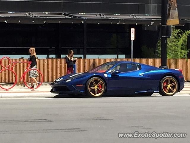 ferrari 458 italia spotted in salt lake city united states on 08 04 2015. Black Bedroom Furniture Sets. Home Design Ideas
