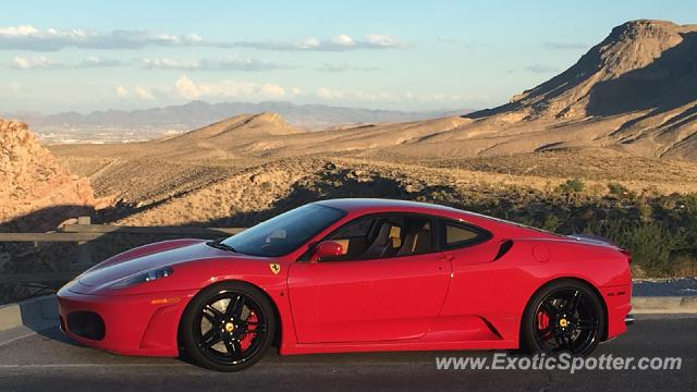 Ferrari F430 spotted in Red Rock Canyon, Nevada