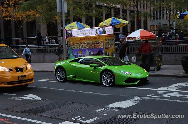 Awesome Lamborghini Huracan Spotted In Manhattan, New York