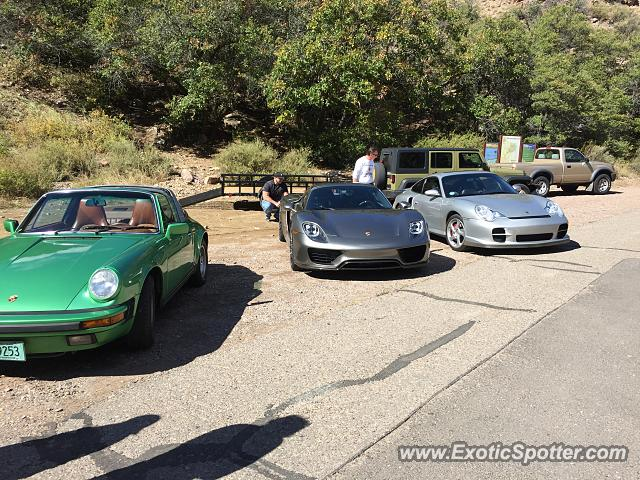 porsche 918 spyder spotted in jemez springs new mexico on 10 24 2015. Black Bedroom Furniture Sets. Home Design Ideas