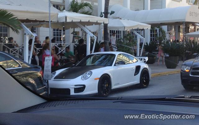 Porsche 911 GT2 spotted in Miami Beach, Florida
