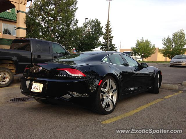 Fisker Karma spotted in Calgary, Canada