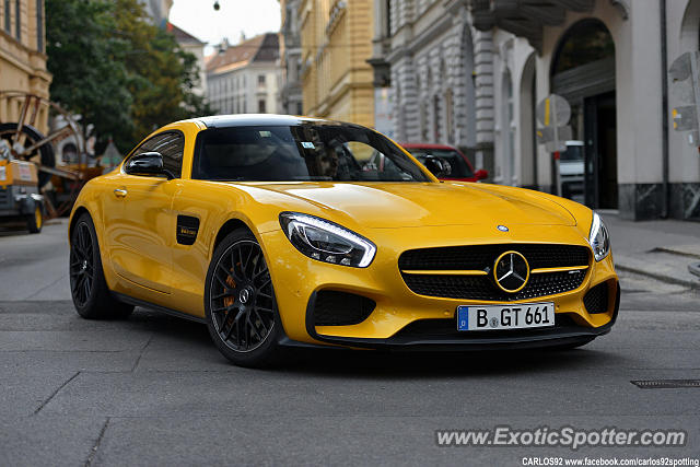 Mercedes amg gt spotted in vienna austria on 08 28 2015 for Mercedes benz tysons hours