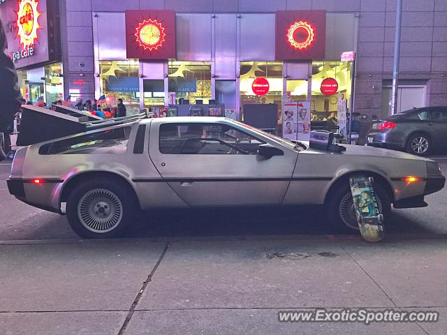 DeLorean DMC-12 spotted in New York, New York