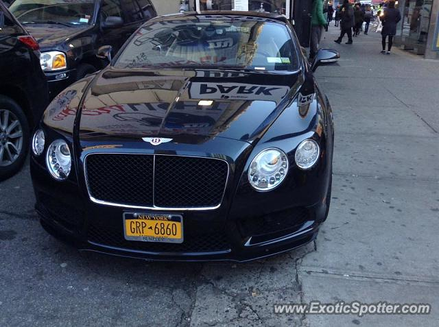 Bentley Continental spotted in Manhattan, New York