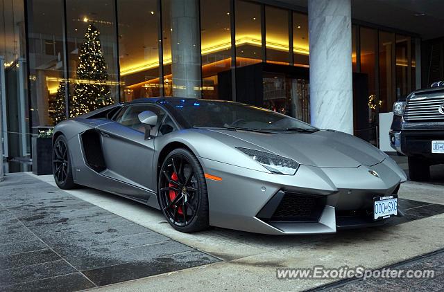Lamborghini Aventador Spotted In Vancouver Canada On 12 26 2015