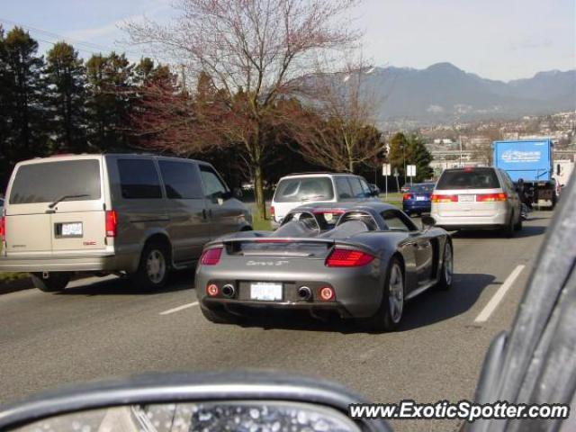 Porsche Carrera GT spotted in Vancouver, Canada on 03/03/2005