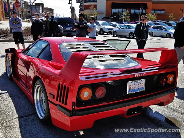 Ferrari F40 spotted in Bolingbrook, Illinois