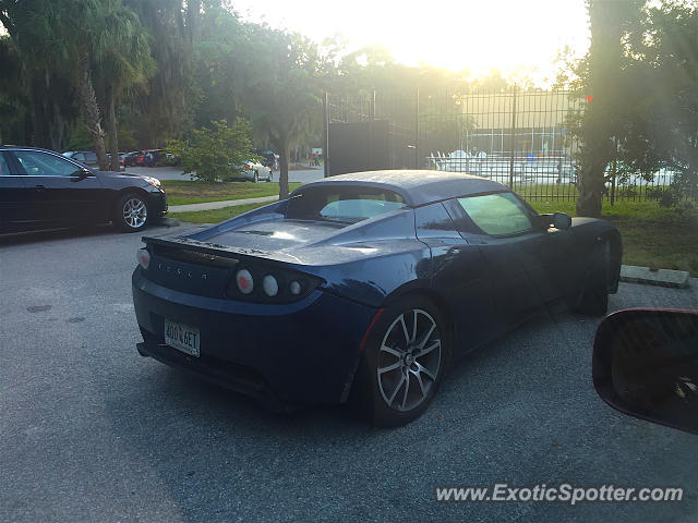 Tesla Roadster spotted in Beaufort, South Carolina
