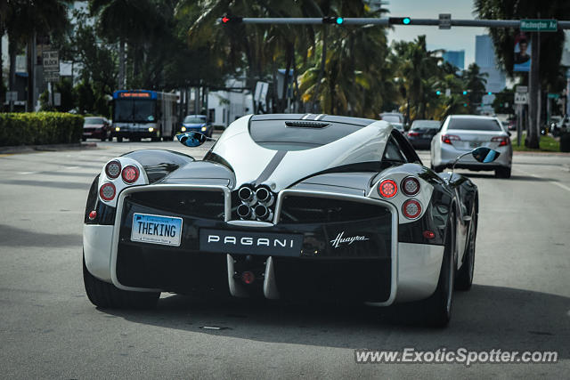 Pagani Huayra spotted in Miami Beach, Florida on 01/29/2016