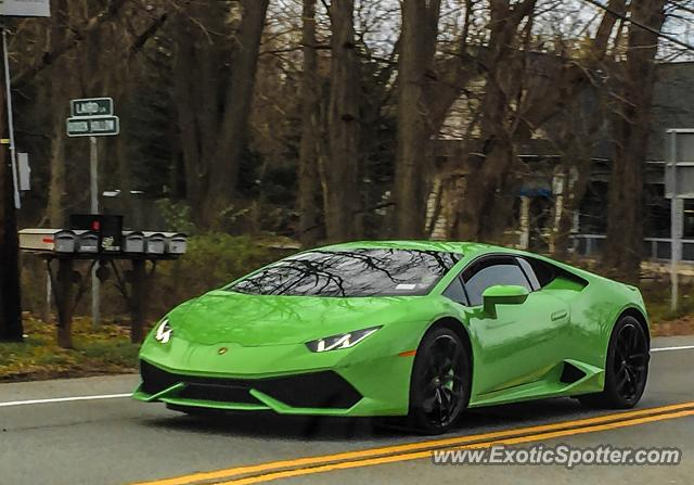 Lamborghini Huracan spotted in Bushnell's Basin, New York