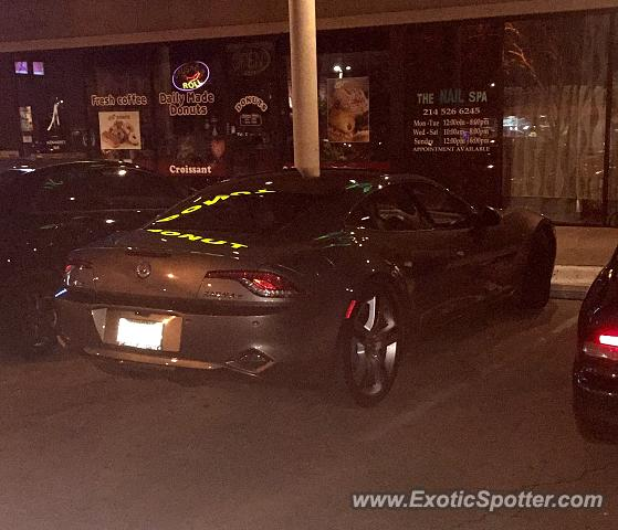 Fisker Karma spotted in Dallas, Texas