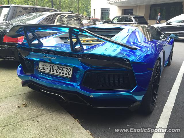 Lamborghini Aventador spotted in London, United Kingdom