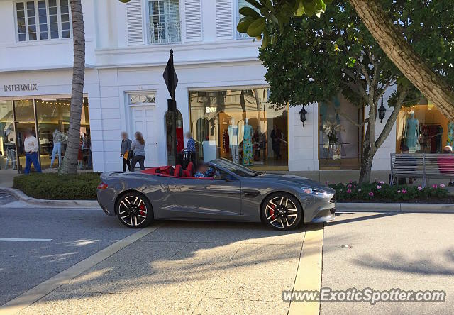 Aston Martin Vanquish spotted in Palm Beach, Florida